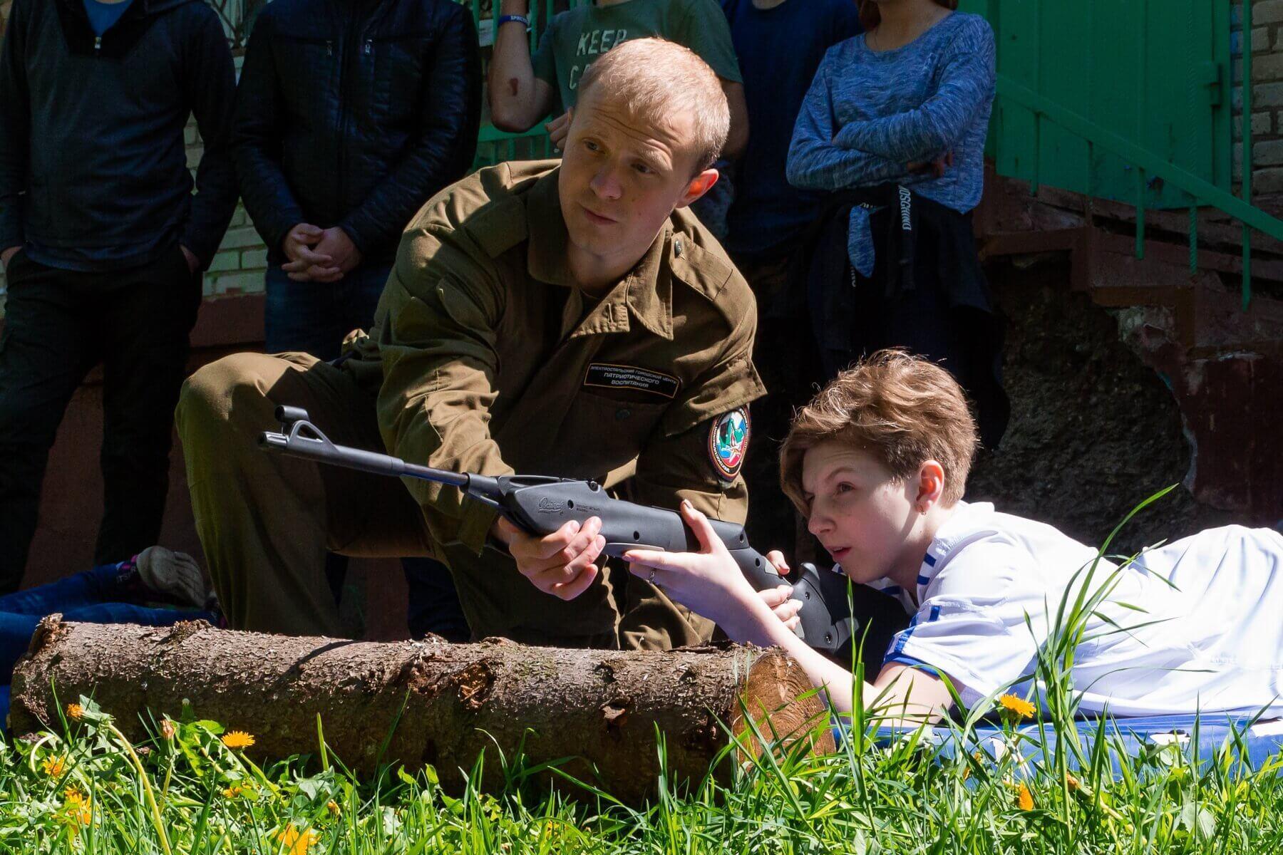 Военно-спортивная игра Зарница, стрельба