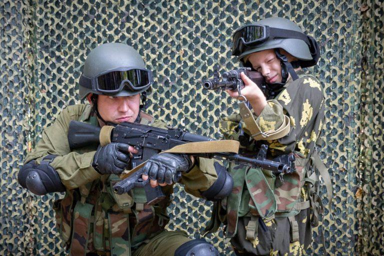 сделать фото в форме военного