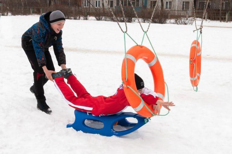 зимние эстафеты для детей на улице зимой