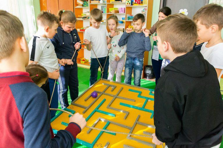 командная игра лабиринт для детей и взрослых