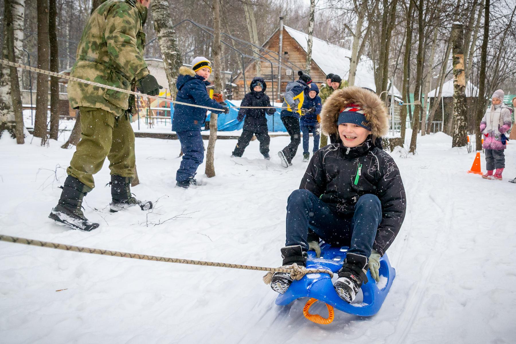 зимние подвижные игры на улице